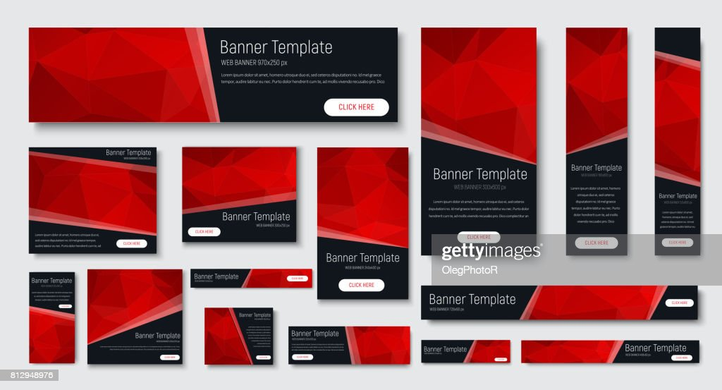 design of black banners of standard size