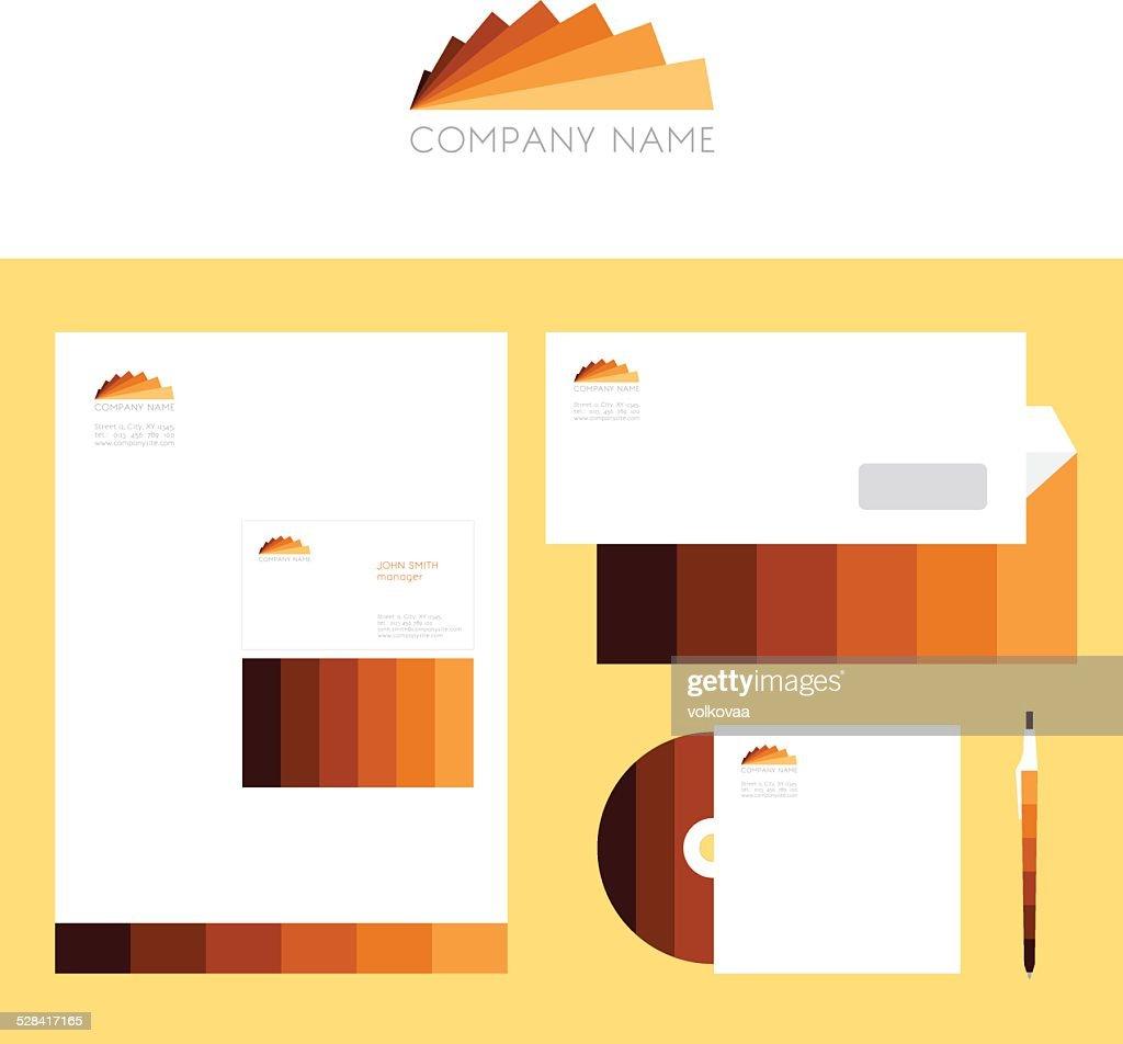 Design of corporate identity templates