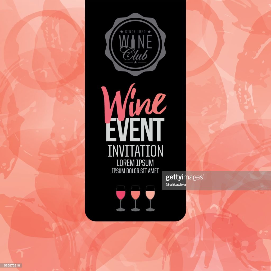 Design of invitation, leaflet or banner for your wine events.