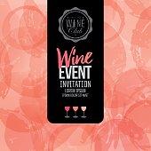 Design of invitation, leaflet or banner for your wine events.