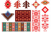 Design of traditional Bulgarian rugs and folklore elements