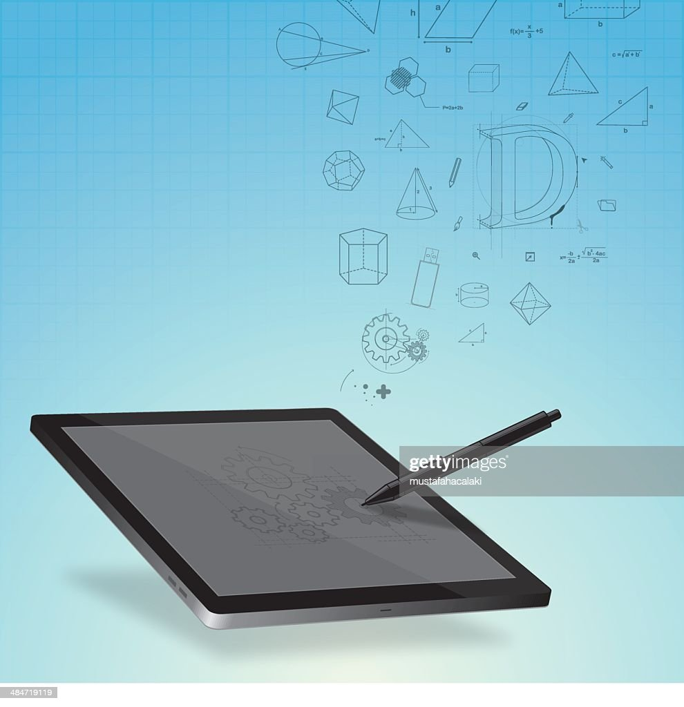 Design on graphic tablet