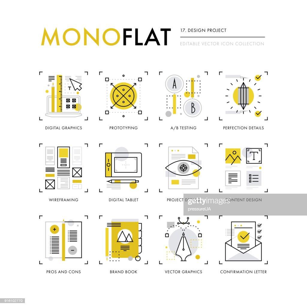 Design Project Monoflat Icons