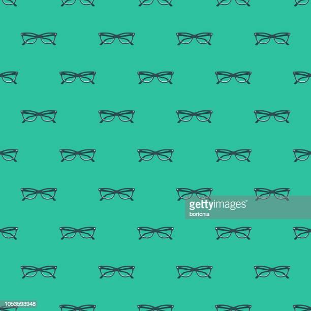 design seamless pattern - eyeglasses stock illustrations