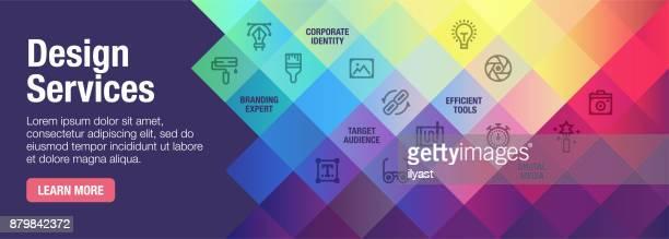 デザイン サービス バナー - 広告点のイラスト素材/クリップアート素材/マンガ素材/アイコン素材