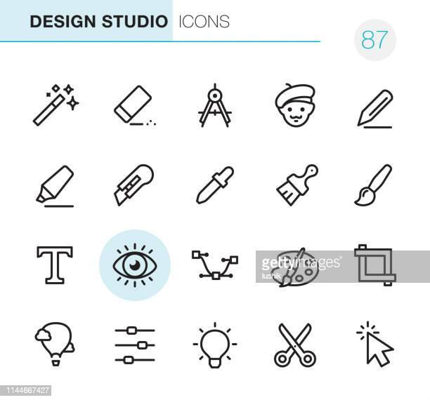 design studio - pixel perfect icons - proofreading stock illustrations, clip art, cartoons, & icons