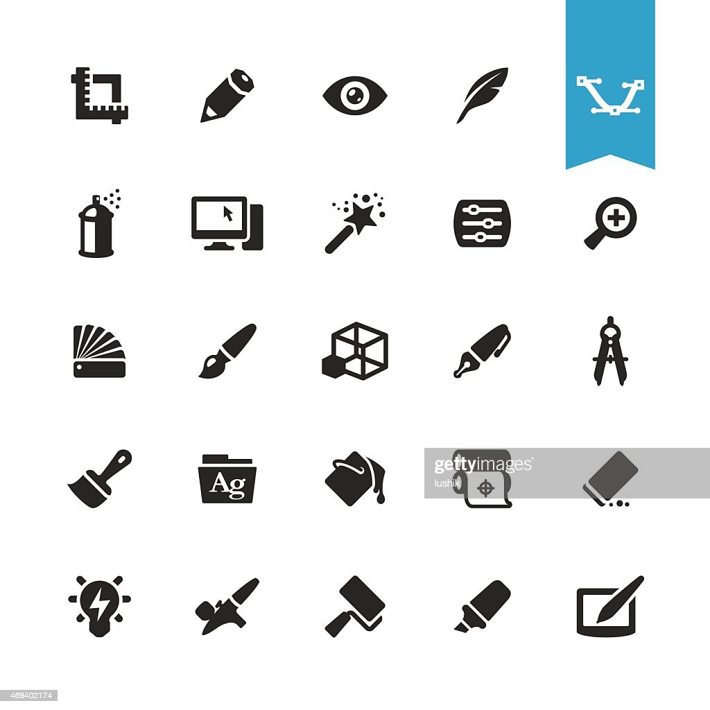 Design Studio related vector icons