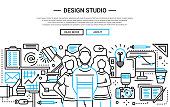 Design Studio - simple line website banner