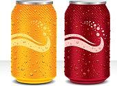 design template can cola, juice drink, beer