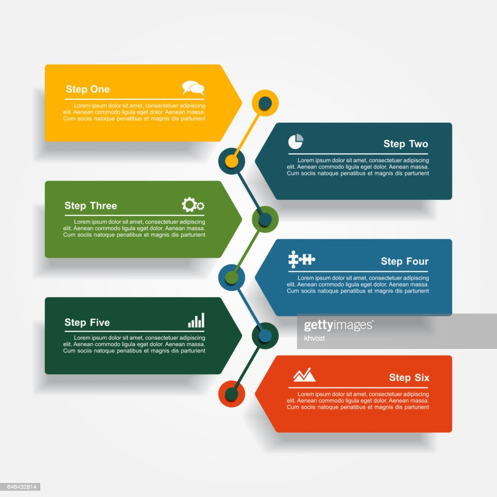 Design template with elements and icons. Vector illustration.