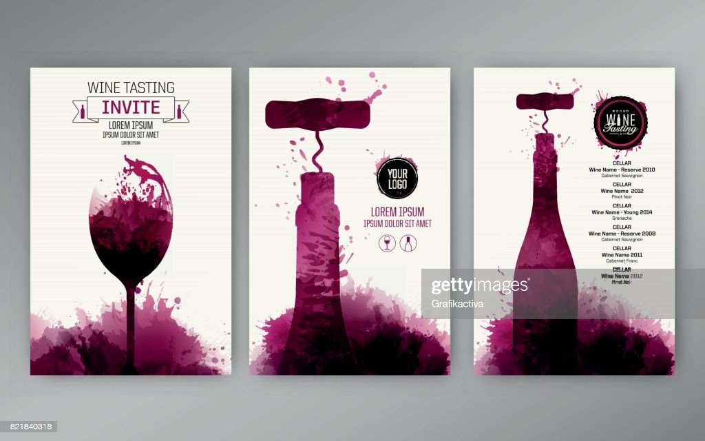 Design templates background wine stains
