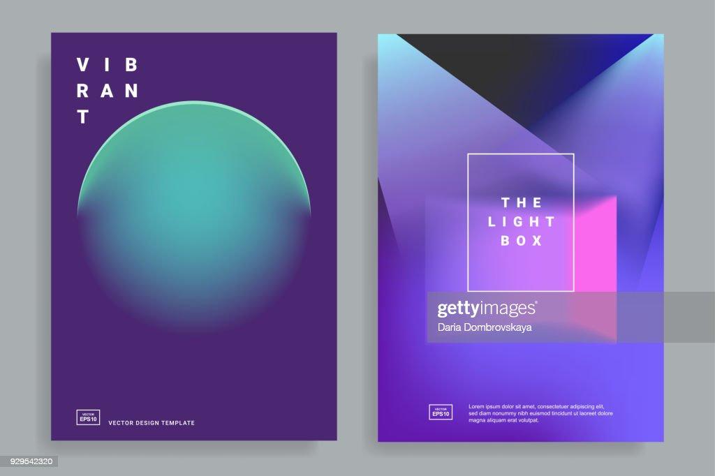 design templates with vibrant gradient
