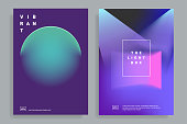 design templates with vibrant gradient