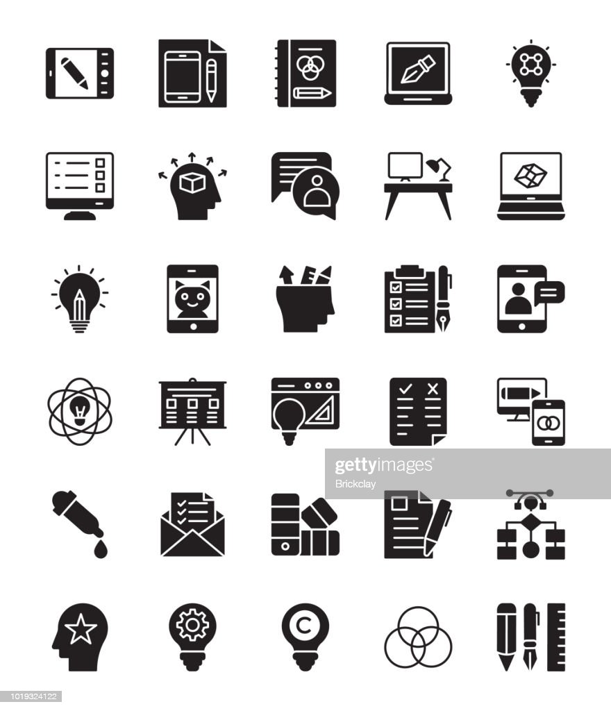 Design Thinking Glyph Vector Icons