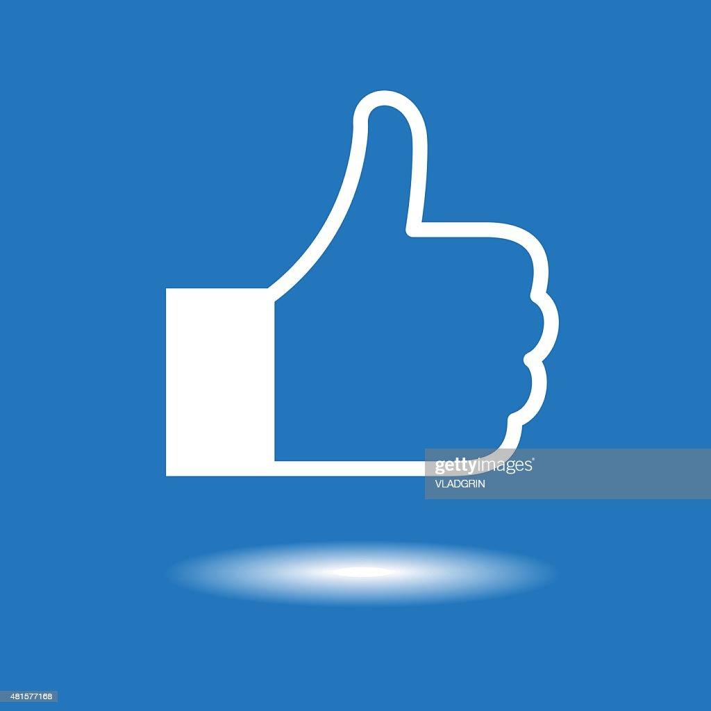 Design thumbs up icon