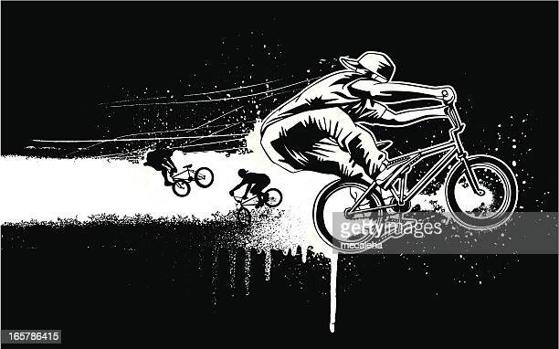 bmx design - bmx cycling stock illustrations