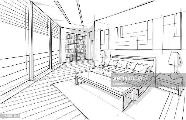 ilustraciones, imágenes clip art, dibujos animados e iconos de stock de diseño de - habitación