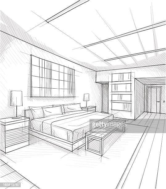 illustrations et dessins anim s de chambre coucher getty images. Black Bedroom Furniture Sets. Home Design Ideas