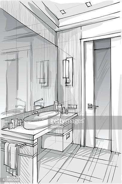design - bathroom stock illustrations, clip art, cartoons, & icons