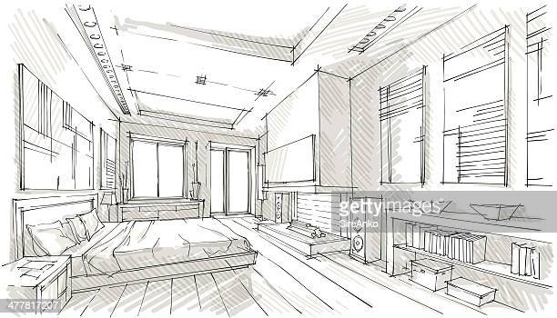 design - house interior stock illustrations, clip art, cartoons, & icons