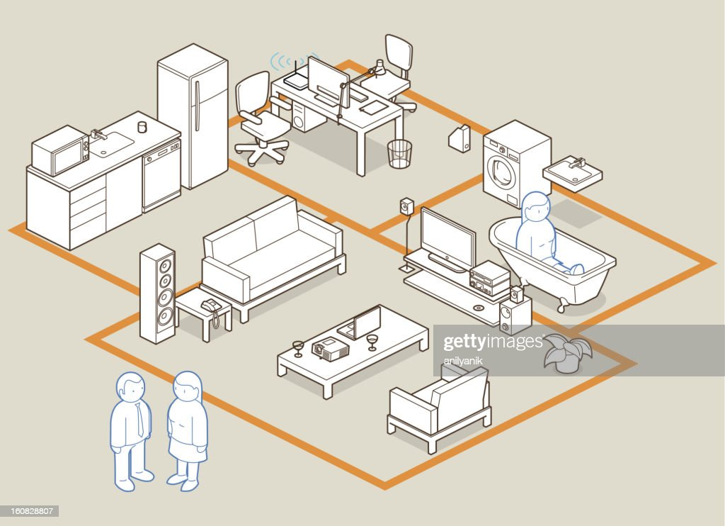 design your home / office : Stock Illustration