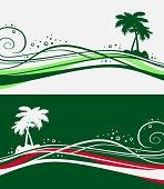 designed palm trees