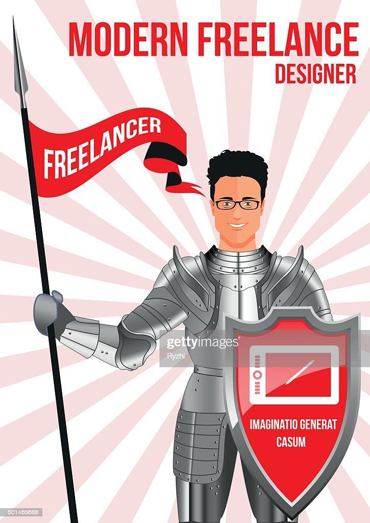 Designer freelancer design concept