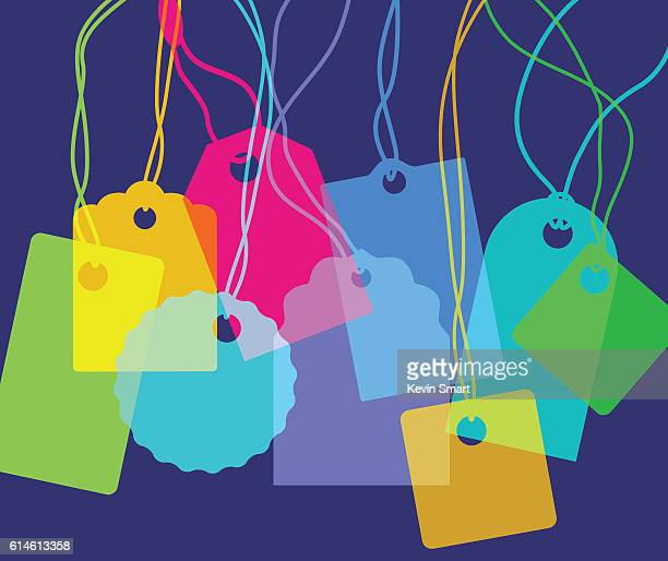designer labels - luggage tag stock illustrations, clip art, cartoons, & icons