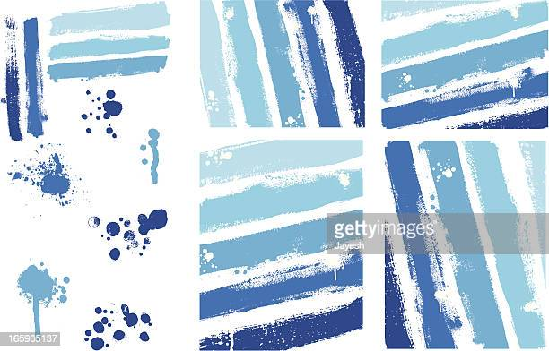Designer Vector Element Collection - Painted Texture Stripes Background