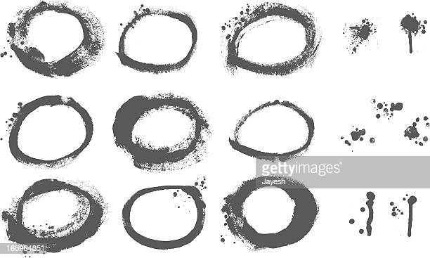 Designer Vector Element Series: Painted Circle Grunge Border