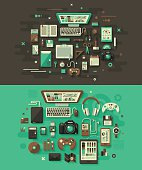 Designer's Desk Flat Design Concepts