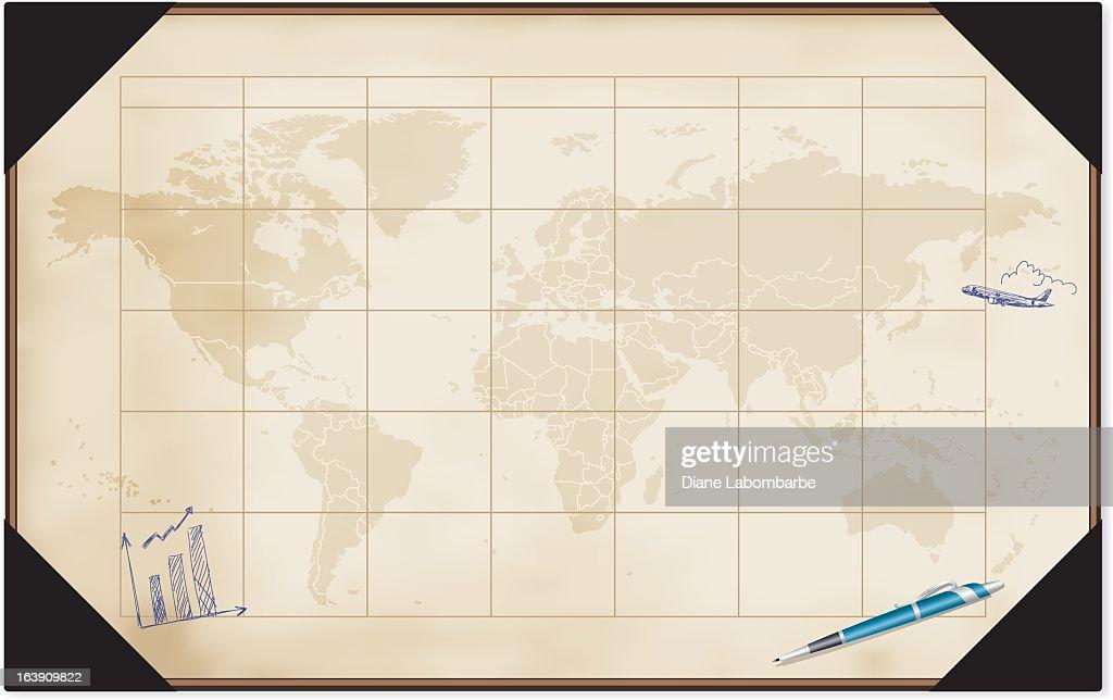 Desk calendar with world map vector art getty images desk calendar with world map vector art gumiabroncs Gallery