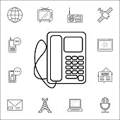 desk phoneicon. Media icons universal set for web and mobile