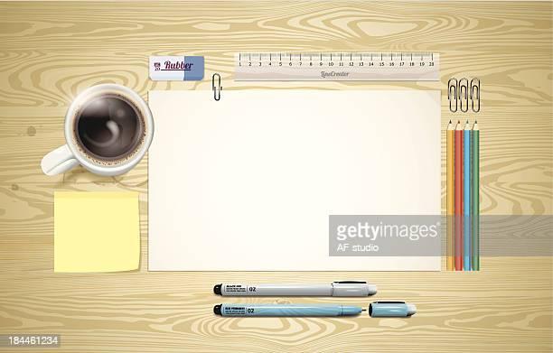 Schreibtisch bereit Arbeiten