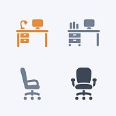 Desks & Chairs - Carbon Icons