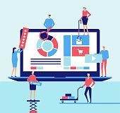 Desktop application - flat design style illustration