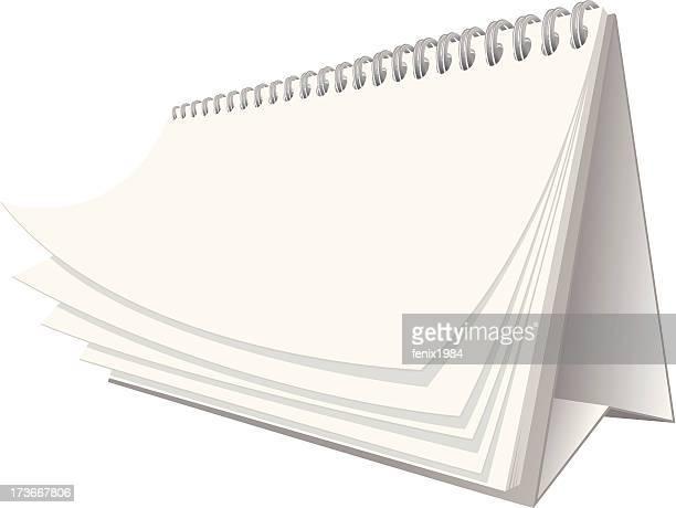 desktop calendar - paperboard stock illustrations