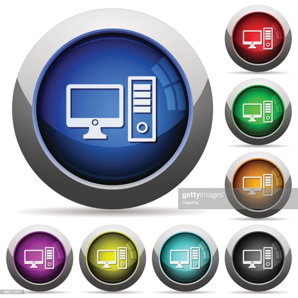 Desktop computer button set