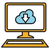 desktop computer with cloud computing