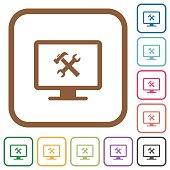 Desktop tools simple icons