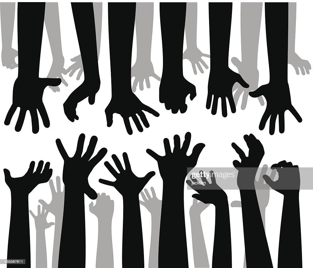 Despaired Hands : stock illustration