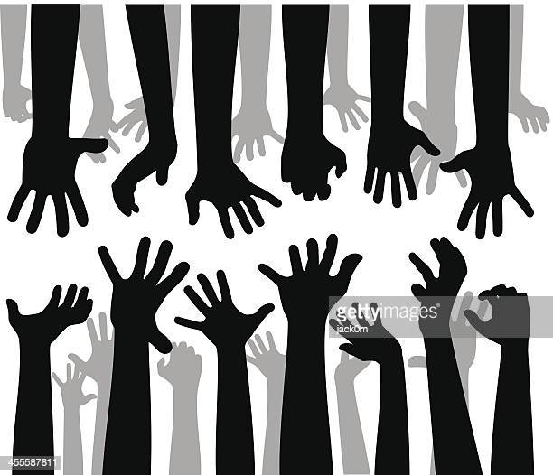despaired hands - zombie stock illustrations, clip art, cartoons, & icons