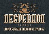"""""""Desperado"""" typeface."""
