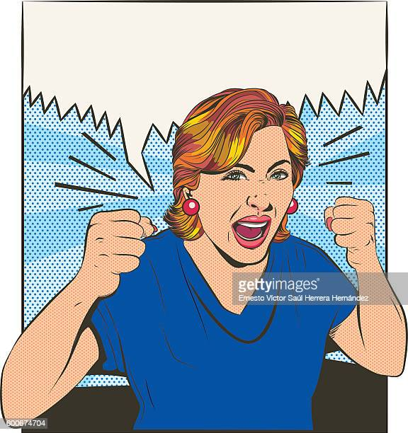 ilustraciones, imágenes clip art, dibujos animados e iconos de stock de desperate women - fighting stance