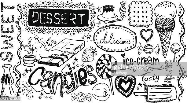 Dessert hand skecth collection