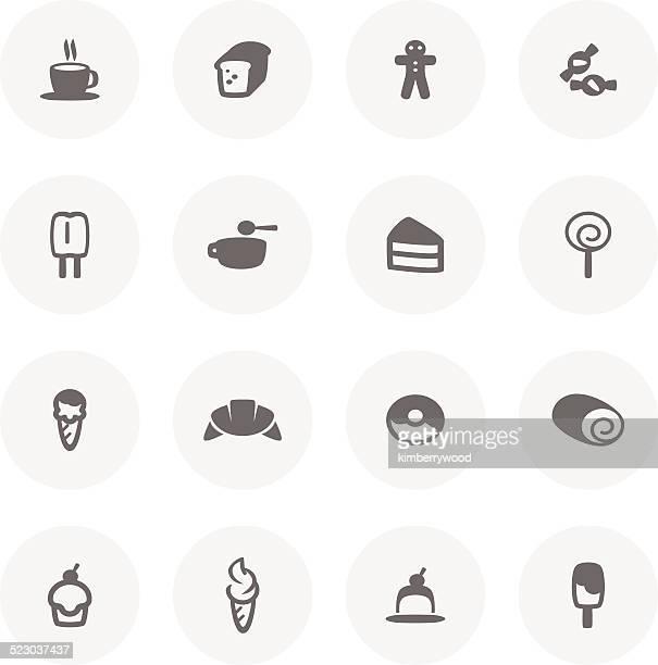 dessert icon - meat pie stock illustrations