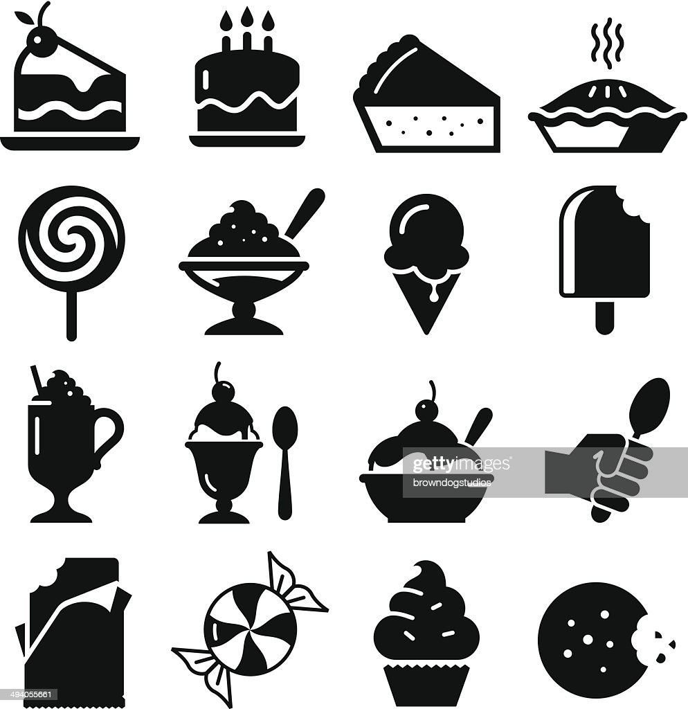 Dessert Icons - Black Series