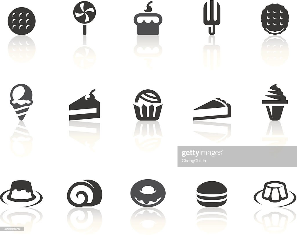 Postre iconos/Simple de la serie Black : Ilustración de stock