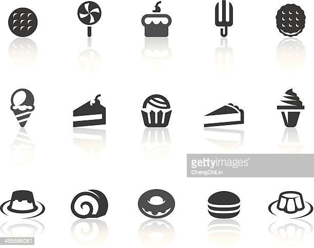 dessert icons | simple black series - macaroon stock illustrations, clip art, cartoons, & icons