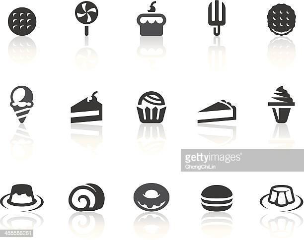 Dessert Icons | Simple Black Series